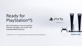 """A Sony anunciou a compatibilidade """"Ready for PlayStation®5"""" para os atuais televisores BRAVIA™"""