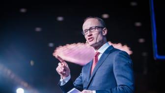 Adm.dir. Nils Kristian Nakstad i Enova på Enovakonferansen 2017.