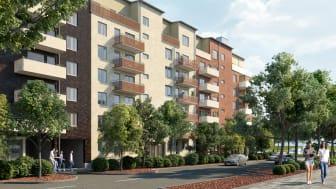 I kvarteret Åsikten Södra på Östra Ågatan i Uppsala bygger Riksbyggen både små och stora bostadsrätter. I den första etappen finns bostäder klara för inflyttning.