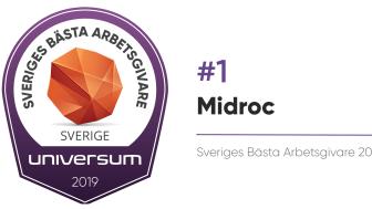 Midroc är Sveriges bästa arbetsgivare!