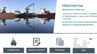 """""""Äntligen har vi en ny fräsch webb som gör att vi kan ge bättre service till våra kunder"""" säger Patrizia Strandman, chef för marknad och försäljning hos Mälarhamnar AB."""
