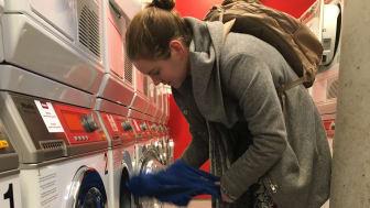 Foto: Miele. Vaskeriet åpnet i november og har kapasitet til nær 5 tonn studentklesvask om dagen. Her blir det rent!