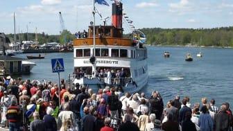 M/S Gustafsberg VII ankommer Gustavsbergs hamn