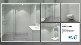 Part levererar 68 badrum till projektet Meieritaket i Bergen, Oslo.