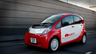 Mitsubishi i MiEV röd