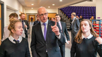 Deputy First Minister John Swinney MSP opens Elgin High