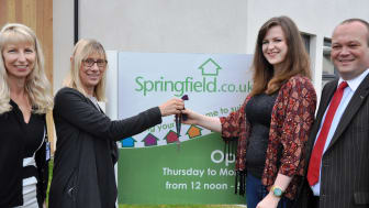 New teacher Gillian Elliot gets the keys for her new flat