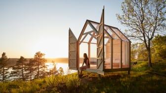 Initativet The 72 Hour Cabin vann guld i kategorin Travel & Tourism i European Excellence Awards 2018. Foto: Anna-Lena Lundqvist