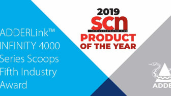 ADDERLink™ INFINITY 4000 Series Scoops Fifth Industry Award