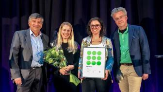 NetOnNet tar emot första priset för bäst upplevda service 2018, inom kategorin hemelektronik, av ServiceScore