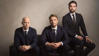 AIFM:s ledarttrio – från vänster: Dan Hjörnered (senior partner), Thomas Dahlin (vd och senior partner) och Johan Björkholm (vice vd och partner.)