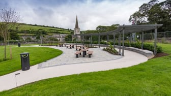 Seating and picnic facilities adjacent to the play area and car park are being installed in Glenarm through the Village Renewal Scheme.
