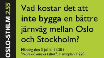 """Måndag den 3 juli kl 11.30 i """"Norsk-Svenska tältet"""", Hamnplan H228"""