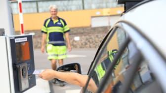 Passersystem införs på Sysavs återvinningscentraler i början av december. Foto: Andreas Offesson.