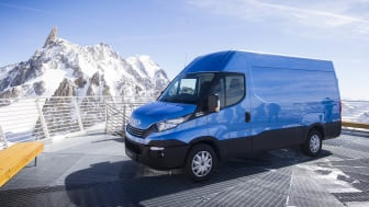 Iveco Daily på Mont Blanc SkyWay station
