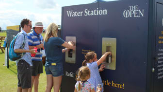 Golf fans at the 2019 British Open at Portrush, Northern Ireland, were treated to water as pure as nature intended by organisers The R&A in order to halt the sale of single use plastic bottles
