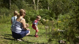 Children enjoying free time with parents