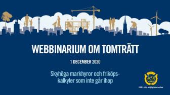 Skyhöga markhyror och friköpskalkyler som inte går ihop – se HSBs webbinarium om tomträtt med ansvariga politiker