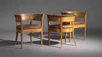 Kaare Klint: Tre tidlige og sjældne armstole af egemaser.