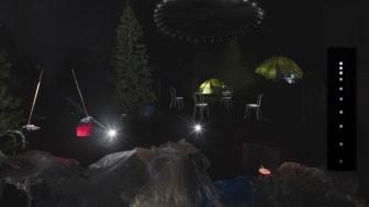 Dokumentationsbilder från installationen Haunted House: A Trailer. Fotograf: Jean-Baptiste Béranger.
