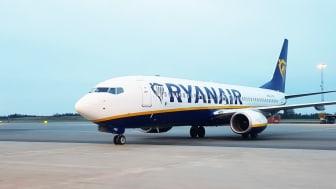 Ryanair plan på Göteborg Landvetter Airport. Foto: Swedavia