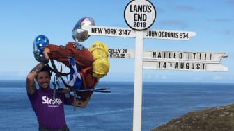 Blackpool fundraiser raises £1,500 for the Stroke Association by walking the length of Britain