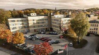 Foto över Pulsenområdet i Borås, en del av beståndet i Pulsen Fastighet.