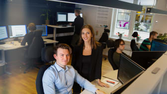 Magda Stolarczyk og Koenraad Rodbjartson Herber i Team Digital