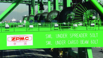 Cavotec cable reels powering STS container cranes