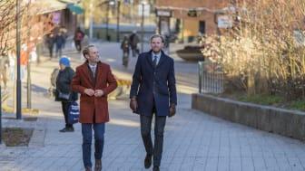 Franchisetagare Hampus Åsén och Robert Nilsson öppnar ett nytt Bjurforskontor på Lidingö.