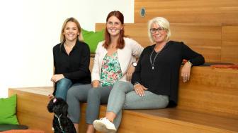 Innovatum Startup (Janni Umeland), Almi (Elin Karlsson) och Nyföretagarcentrum Väst (Petra Arlebo) är huvudarrangörer av idétävlingen Grow4bodal.