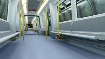 Copenhagen Metro, rendering of interiors