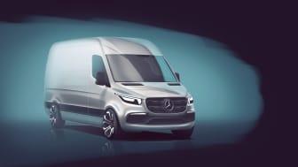 Mercedes afslører første detaljer om den nye Sprinter