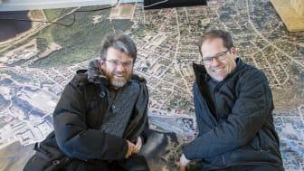 Fra venstre: Gunnar Ridderstöm og Tor Atle Odberg. Foto: Kjersti Bache (Østlands-Posten)