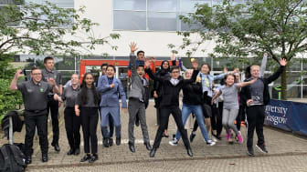Youth Activate students celebrate after completing the Community Development programme at Glasgow University