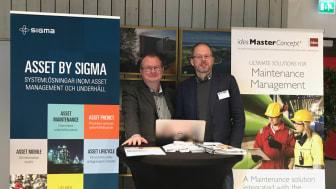 Samarbete på Underhållsdagarna 22-23 nov: Hans Hellström från Sigma och Stig Hellholm från Ides