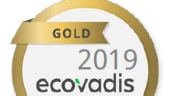 EcoVadis 2019 Gold Certificate
