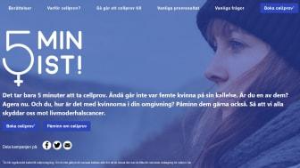 På sajten www.5minist.se finns information om hur cellprovtagning går till och varför det är viktigt.
