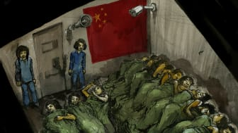 276398_Female detainees stand _on duty_ at night_ Xinjiang_ China.jpg