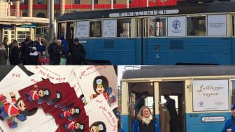 Engagemang och trevlig stämning vid julklappsvagnen på Drottningtorget i Göteborg