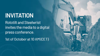 Invitation to a digital press conference with Rototilt and Steelwrist on Oct. 1st