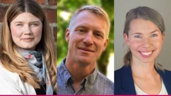 Johanna Lakso, Daniel Kulin och Johanna Barr representerar Power Circle i Almedalen 2019. Fotograf: Jakob Svärd, Anna Wolf och privat.