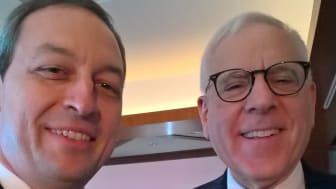 HBM's Mark Laudi meets Carlyle Group's David M. Rubenstein