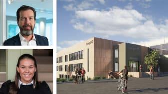 Peer William Velde, Adm. Direktør i 3stepIT og Thea Martine Blyverket, utleiesjef i Höegh Eiendom.