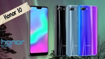 NetOnNet först ut med att sälja Honor 10, säljstart 25 maj, 2018