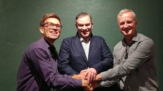 Mattias Goldman, Dan Larsson (KGK) och Jacob Lagercrantz (2030-sekretariatet).