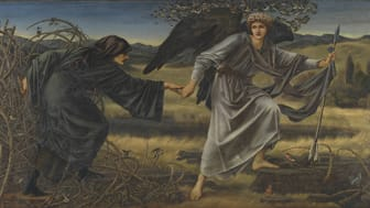 Edward Burne-Jones, Love and the Pilgrim, 1896-7. Olja på duk, 1575 x 3048 mm, Tate Britain.