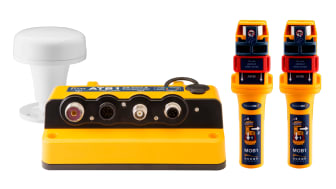 Ocean Signal's ATB1 AIS kit: the ATB1 Class B AIS Transponder and two rescueME MOB1 man overboard beacons