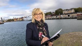 Eva Nypelius (C), regionstyrelsens ordförande Region Gotland en av de sammankallande i styrgruppen för Mälardalsrådets En Bättre Sits-samarbete. Foto: Region Gotland.