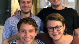 Klimatos grundare: Anton Unger, Philip Claesson, Henric Hansson och Christoffer Connée